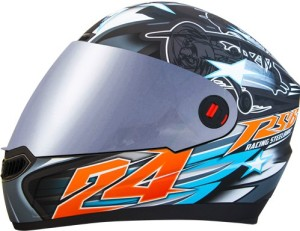 d707aef4 Steelbird AIr Hovering Motorbike Helmet Glossy Honda Grey Orange ...