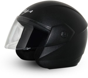 8d5c9f59609 Vega Ridge Black Helmet Motorsports Helmet ( Black )