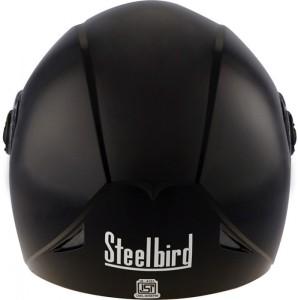 df5cf075 Steelbird Steelbird Helmet Sb 43 Yo Yo Glossy Black Motorbike Helmet ...