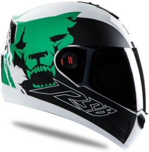 8bf07f1d Steelbird Air SBA 1 Beast Motorbike Helmet Mat White Green 580MM ...