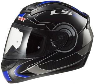 c6bb9b80fa9 LS2 Atmos Black Blue With Mercury Visor Motorbike Helmet Black Blue ...