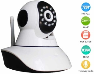 Wonder World ™ Onvif IPC05H Intelligent Surveillance Wireless Network  Linkage Alarm IP WiFi 1 Channel Home Security Camera1 GB