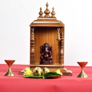 Designer Lanes Wooden Home Temple Height 25 Cm Best Price In India
