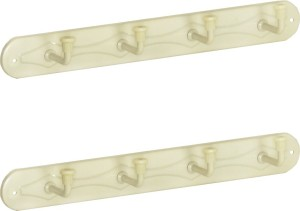 Doyours 2 Set of Ivory 4 Pin Hook Rail 4 - Pronged Hook Rail