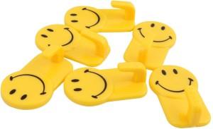 Zhenxin Plastic Self-Adhesive Smiley Face Hooks, 1 Kg Load Capacity, 6 - Pronged Hook