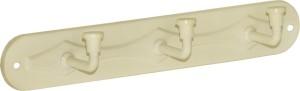 Doyours 3 Pin Ivory Hook Rail 3 - Pronged Hook Rail