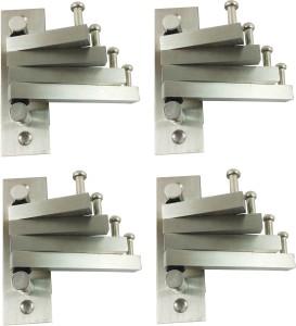 DOCOSS Pack Of 4-Flexible 4 Pin Cloth Hanger Hooks 4 - Pronged Hook