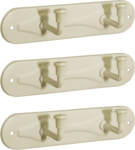 Doyours Doyours 3 Set of Ivory 2 Pin Hook Rail 2 - Pronged Hook Rail