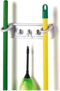 Shopo Non Slide Mop and Broom Holder Storage Organizer 1 - Pronged Hook