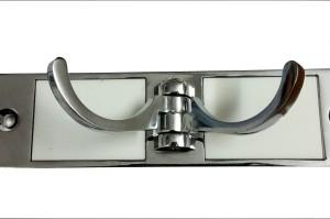 DOCOSS White 4 Pin Hooks Cloth Hanger Hooks 4 - Pronged Hook Rail