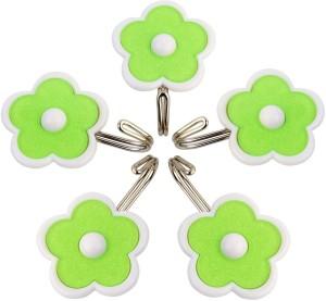 HOKIPO Flower Design Self Adhesive Hooks, Load Capacity 1.5 Kg, 5 - Pronged Hook