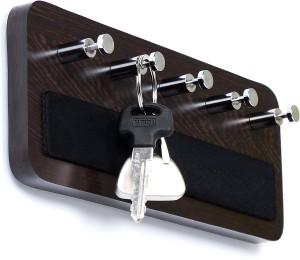 Bluewud Wall Mounted Key Rack Hooks - Skywood Wenge Big 5 - Pronged Key Holder