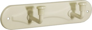 Doyours Doyours 2 Pin Ivory Hook Rail 2 - Pronged Hook Rail