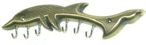 YASHA LIFESTYLE DOLPHIN ANTI BRASS 6 KEY HANGER 6 - Pronged Key Holder