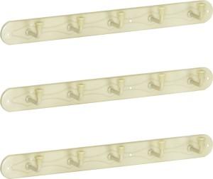 Doyours 3 Set of Ivory 5 Pin Hook Rail 5 - Pronged Hook Rail