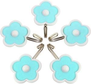 HOKIPO Flower Design Self Adhesive, Load Capacity 1.5 Kg, 5 - Pronged Hook