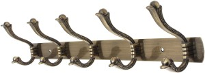 Dolphy Towel Clothes Wall Hanger 5 - Pronged Hook Rail