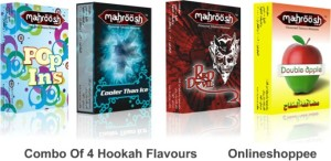 Onlineshoppee Combo Pack of Poppins Cooler Than Ice Red Devil 6 Double  Apple Hookah Flavor ( 300 g Pack of 6 )