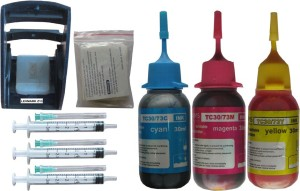 Max Ink Suction Tool Refillable Kit for Lexmark Z13 Cartridge with 90ML Multi Color Ink