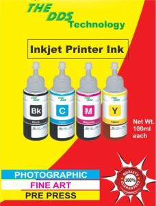 DDS All Color Bottle Compatible For Epson L100,L110,L200,L210,L300,L350,L355,L550,555,C6642,M6644,Y6643,B6641 Multi Color Ink
