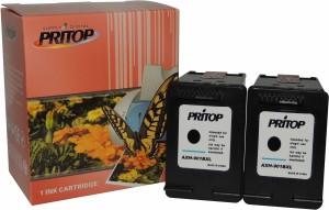Pritop 901XL Two Black inkjet cartridges for HP Officejet J4640, 4500,4580,J4660 Single Color Ink
