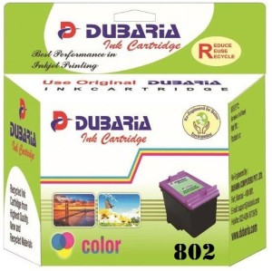 Dubaria 802 / CH562ZZ Cartridge - HP Compatible for Use In Deskjet 1000, 1010, 1011, 1050, 1510, 1511, 2000, 2050, 3050, J210, J310, J610 Multi Color Ink