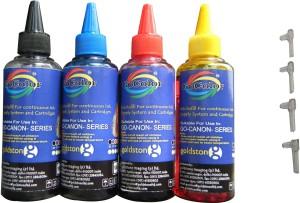 Gocolor Canon Premium Quality Inkjet Compatible 100 ML X 4 Colour & Easy Refilling Cube Multi Color Ink