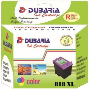 Dubaria 818 XL / CC644ZZ Cartridge - HP Compatible For Use In Deskjet D1668, D2568, D2668 , D5568, F2418, F2488, F4288, F4488 , C4688, C4788, Envy 110 e Multi Color Ink