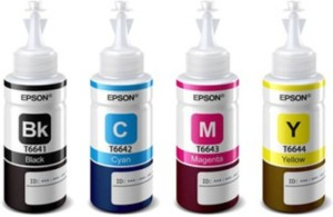 Epson Epson For L100/L200/L210/L220/L300/L350/L500 Single Color Ink (Black) Multi Color Ink