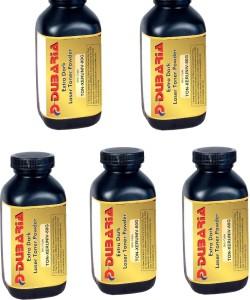 Dubaria Extra Dark powder Universal for Xerox Cartridge-80 grams-Pack of 5 Single Color Toner