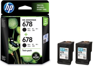 HP 678 Twin Pack Single Color Ink
