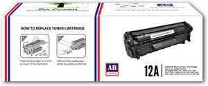 AB Cartridge 12A / Q2612A Cartridge - HP Compatible For Use in Laserjet 1010, 1012, 1015, 1018, 1020, 1022, 1022n, M1005 , M1319f , 3015 , 3020 AIO, 3030 AIO, 3050 AIO, 3050z AIO, 3052 AIO, 3055 AIO Single Color Toner