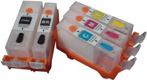Dubaria Empty Refillable Cartridge For Canon IP 3680 / 4680 Printers Compatible With Canon 820 / 821 Multi Color Ink
