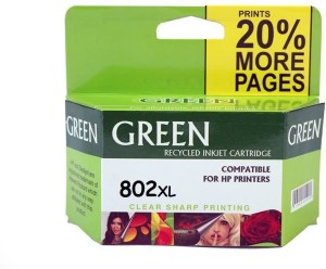 Green hp ink cartridge 802 Single Color Ink