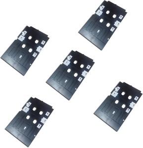 Max Set of 5 PVC ID Card Tray For InkJet Printer Used For Epson L800, L805,  L810, L850, R280, R290, T50, T60, P50, P60 Printing Multi Color InkBlack,