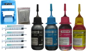 Max Ink Suction Tool Refill Kit for 818 Cartridge with 120ML 4 Multi Color Ink