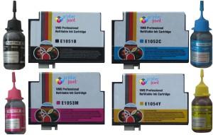 VMS 73n Refillable Cartridge Set For Epson prefilled 4*10ml Ink Cartridge with 4*30ml Bottles Photo Dye Multi Color Ink