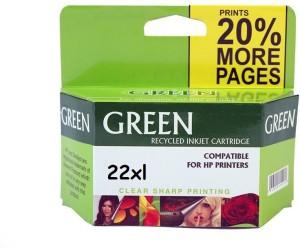 Green hp 22 tri-color ink cartridge Multi Color Ink