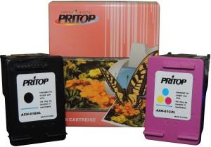 Pritop 61XL One Set of ink Cartridge for HP Deskjet 1510 2540 2545 1512 2510 3512 3510, HP Officejet 2620, 2621, 4630, 4632, 4635 Multi Color Ink