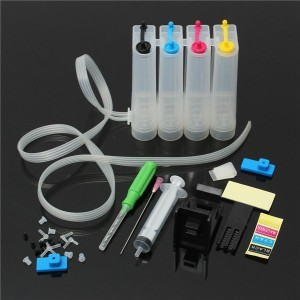 Dubaria CISS Ink Tank Kit Universal For Canon 810, 811, 740, 741, 745, 746 Ink Cartridges Multi Color Ink