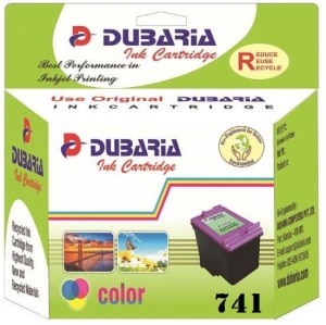 Dubaria 741 TriColor Ink Cartridge Compatible For Canon CL-741 TriColor Ink Cartridge Multi Color Ink