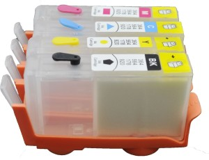 Dubaria Empty Refillable Cartridge For Use In HP 3525 / 4615 / 4625 / 5525 / 6525 Printers Compatible With HP 685 Cyan, Magenta, Yellow & Black Ink Cartridges Multi Color Ink