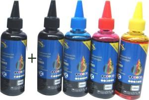 Gocolor Epson L Series Premium Quality Inkjet Compatible Ink 100 ML X 4 Colours + 1 Black Extra (Dye Ink Combo) Single Color Ink