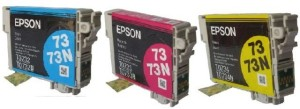 Epson 73N Combo Cartridge Valuable Pack of 3 Colors Multi Color Ink