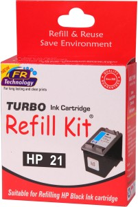Turbo Ink Refill Kit for HP 21 cartridge Single Color Ink