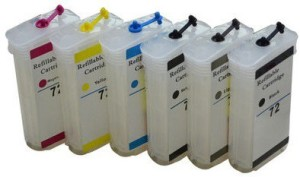 Dubaria Empty Refillable Cartridge For HP Z 5400 Printers Compatible With HP 70 All 6 Colors Multi Color Ink