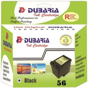 Dubaria 56 Black Ink Cartridge Compatible For HP 56 Black Ink Cartridge For Use In DeskJet 5550, 5551, 5552, 450cbi , 7150, 7350, 7550, 7660, 7760, 7960, 2105, 2108, 2110, 2115, 2150, 2210 Printers Single Color Ink