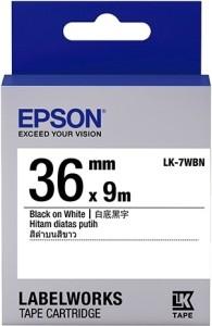 Epson 36 mm Black on White Tape Single Color Toner