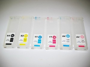 Dubaria Empty Refillable Cartridge For HP DJ 111 Printers Compatible With HP 82BK / 11 (Cyan, Yellow & Magenta) Multi Color Ink