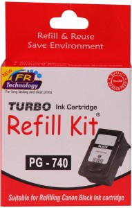 Turbo Ink Refill Kit for Canon PG 740 Cartridge Single Color Ink